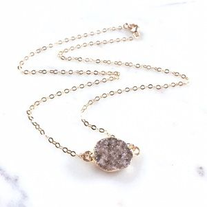 Jewelry - ✨Petite Freeform Natural Druzy Choker Necklace
